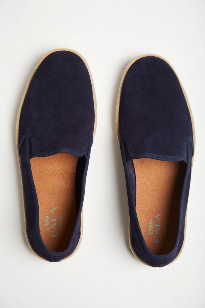 Slip on en cuir bleu marine AZUR ESCALE