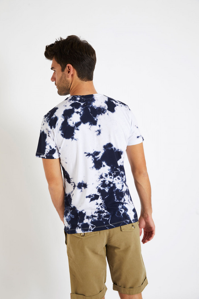 T-shirt tie and dye bleu et blanc CEDRIC PHARE