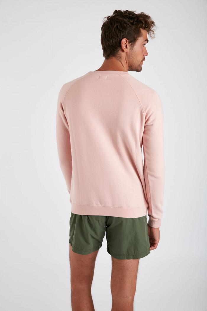 Sweatshirt rose en coton Méditerranéen MELVINMED DICTIO
