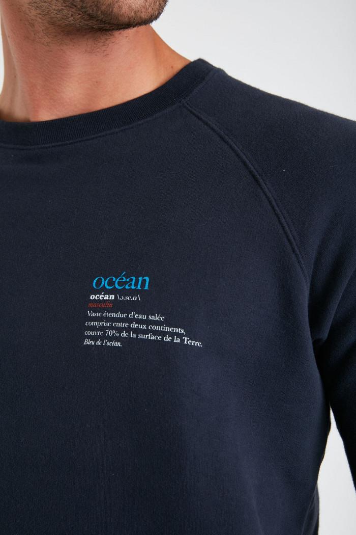 Sweatshirt marine en coton Océan MELVINOCEA DICTIO