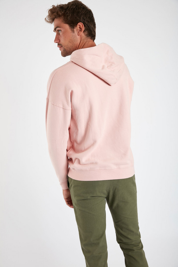 Sweatshirt rose en coton Méditerranéen VINCENTMED DICTIO