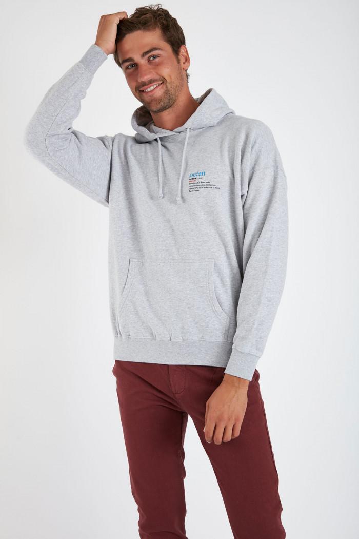 Sweatshirt gris chiné Océan VINCENTOCEA DICTIO