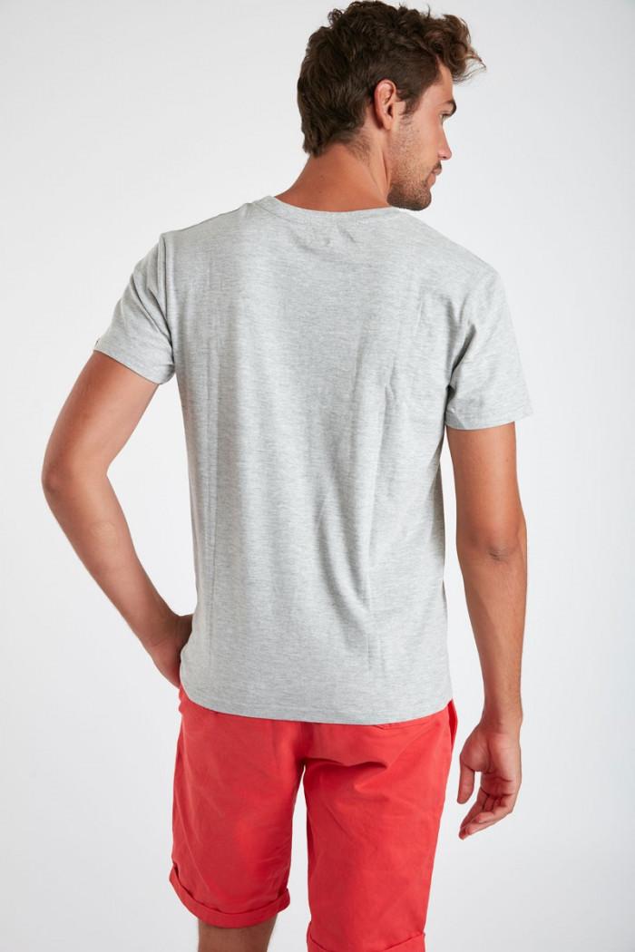 T-shirt gris chiné en coton - Eté Indien YANNINDI DICTIO