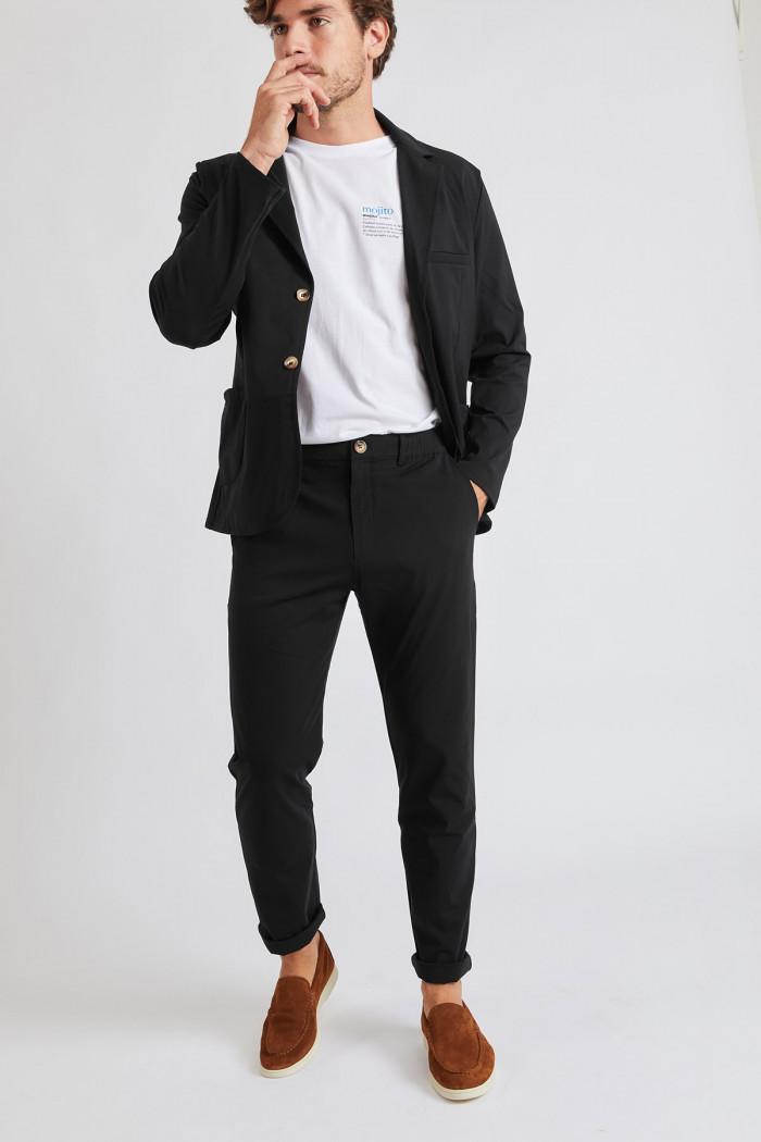 Pantalon Noir CHINO LESCUDO