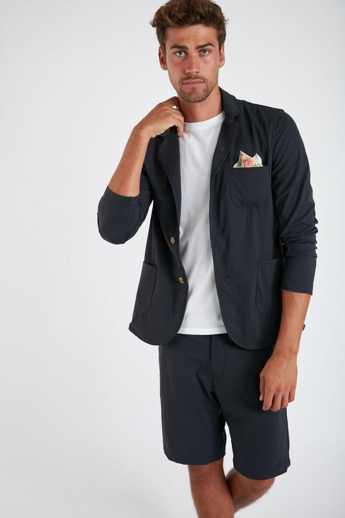 Veste blazer marine avec poches MATTEO LESCUDO