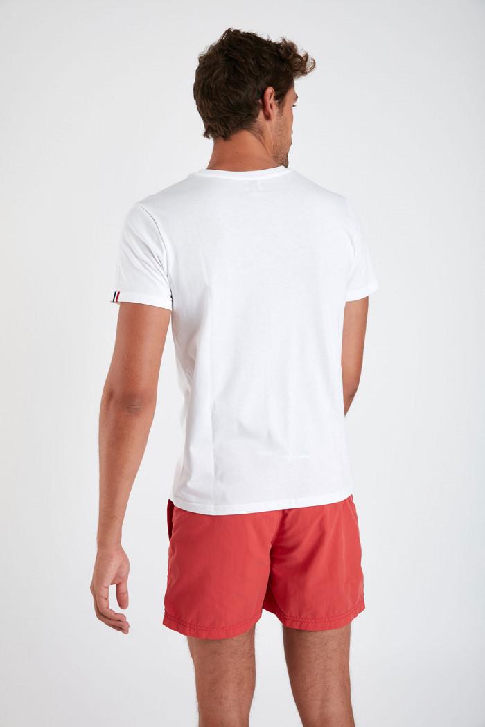 T-shirt blanc en coton - SKI NAUTIQUE YANNNAU DICTIO