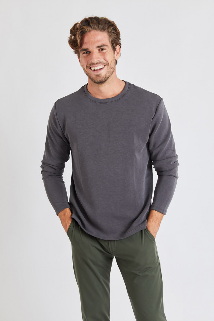 Tshirt manches longues Gris GINO ALASSIO