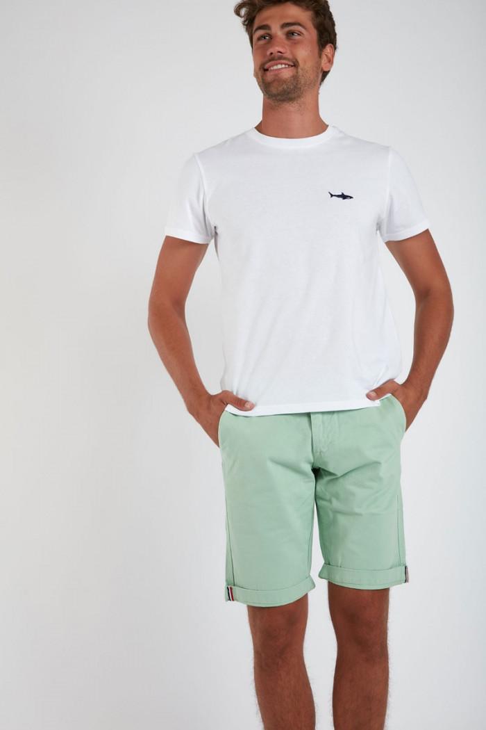 Bermuda en coton Vert Pastel BERMUDA UNI