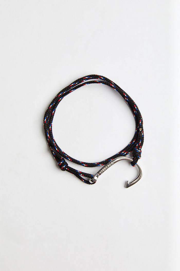 Bracelet Corde Noir - HAMEÇON BRACELET