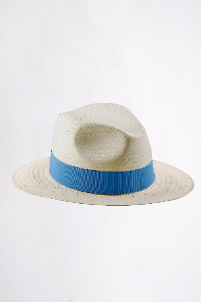 Chapeau de plage Panama bleu France PANAMA CHAPEAU