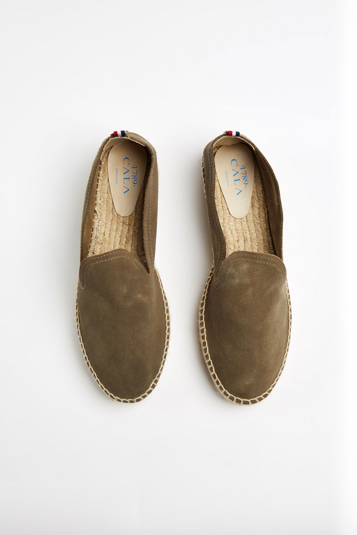 Espadrilles Slip On Double Cuir Kaki SLIPON DOUBLE LEATHER