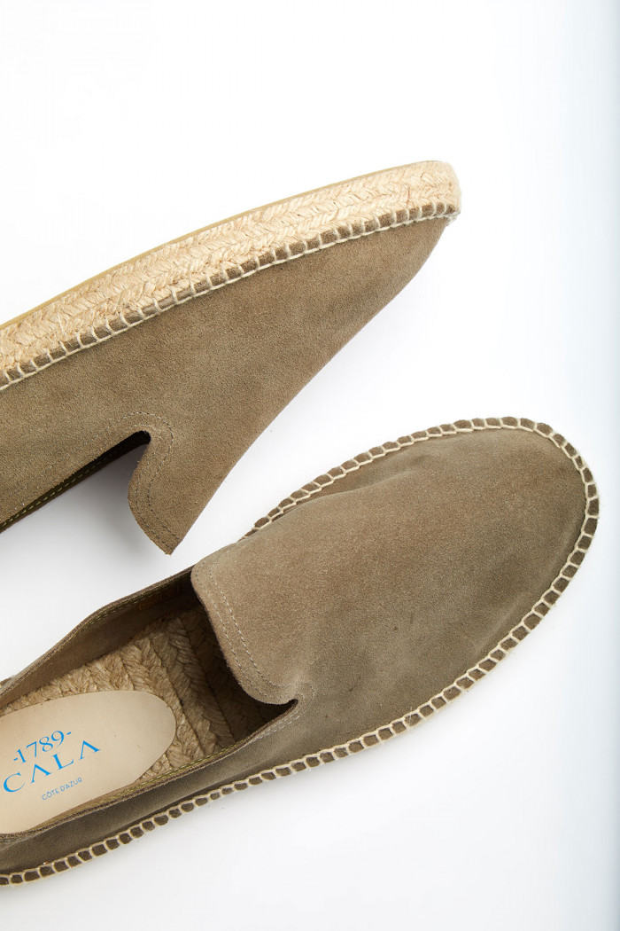 Espadrilles Slip On Cuir Kaki SLIPON LEATHER