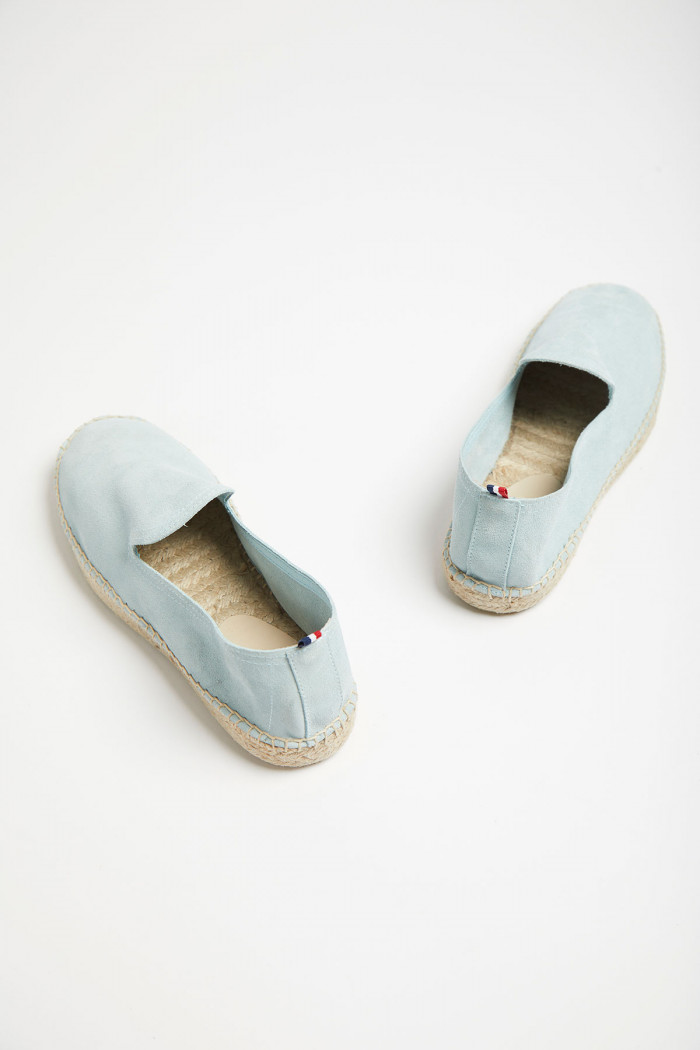 Espadrilles Slip On Cuir Bleu Azur SLIPON LEATHER