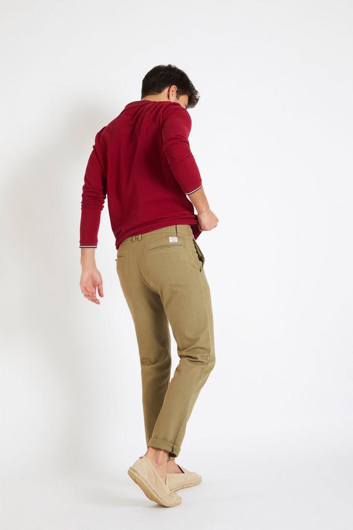 Pantalon en coton kaki - CHINO UNI