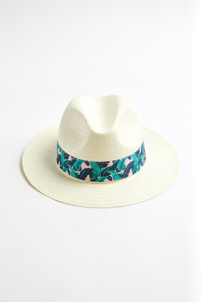 Chapeau Panama motif Tropical Malabar PANAMA CHAPEAU