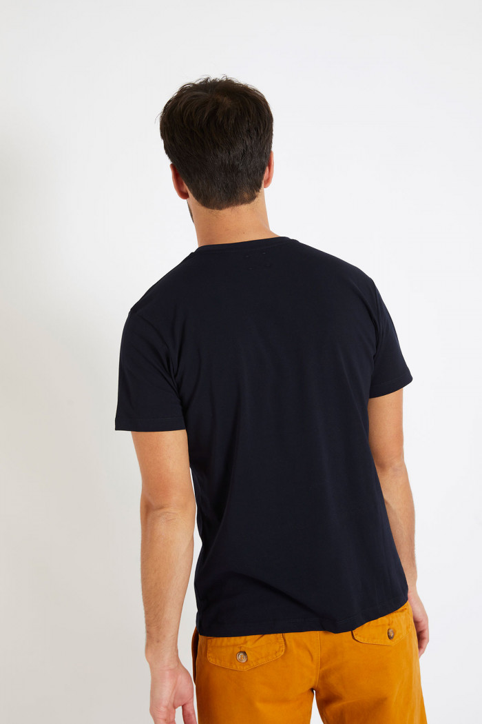 T-shirt manches courtes Bleu Marine écusson TSMC UNICALA