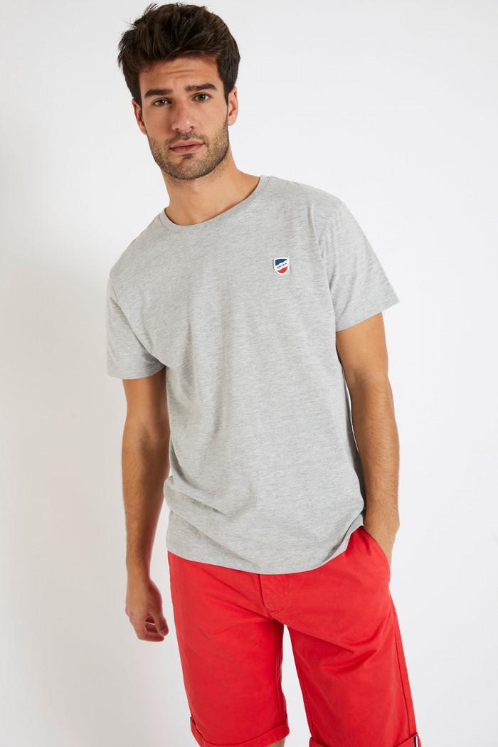 T-shirt manches courtes Gris écusson TSMC UNI