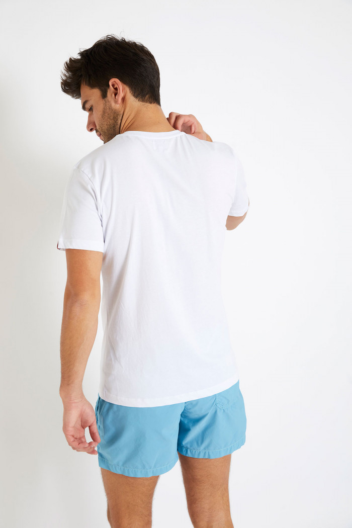 T-shirt blanc en coton - Barbecue YANNBBQ DICTIO