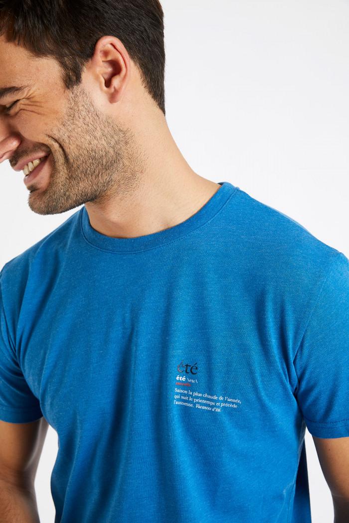 T-shirt bleu en coton Été - YANNETE DICTIO