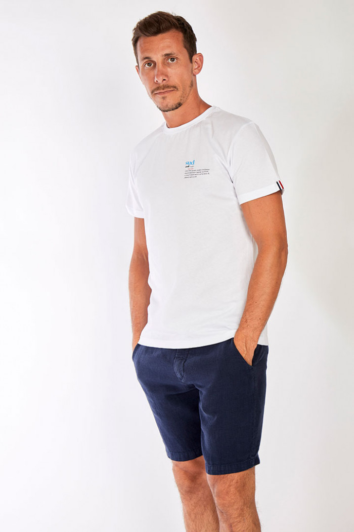 T-shirt blanc en coton - Sud YANNSUD DICTIO