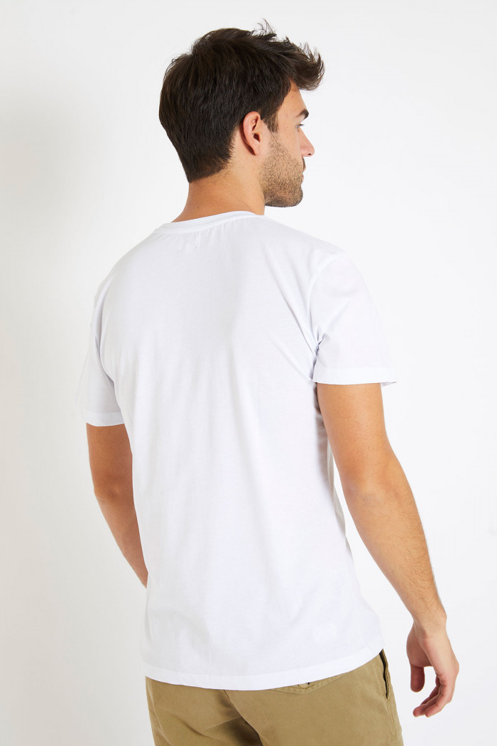 T-shirt blanc en coton - ski YANN ARENA