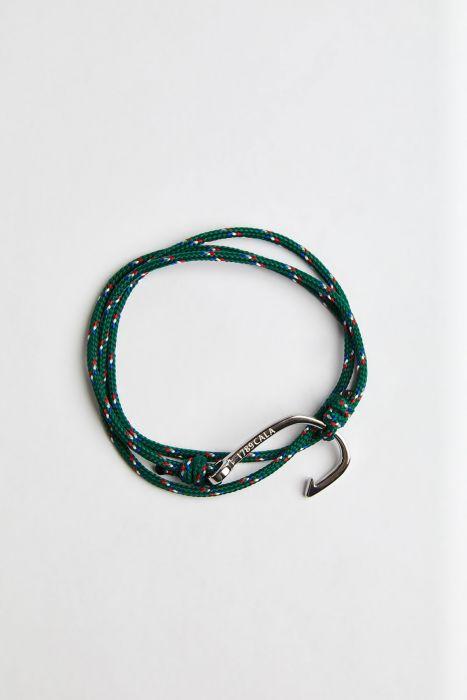 Bracelet Corde Émeraude - HAMEÇON BRACELET