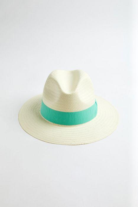 Chapeau de plage Panama Menthe PANAMA CHAPEAU