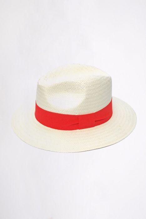Chapeau de plage Panama Orange PANAMA CHAPEAU