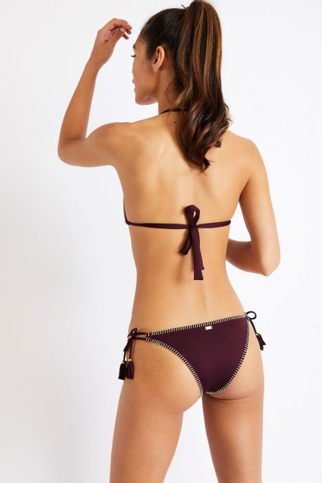 Maillot de bain 2 pièces violet brodé NUCO FLASHBACK & AVORA FLASHBACK