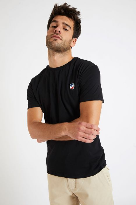T-shirt manches courtes Noir écusson TSMC UNICALA