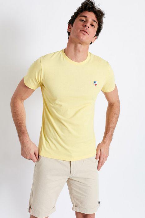 T-shirt manches courtes Jaune Paille écusson TSMC UNICALA