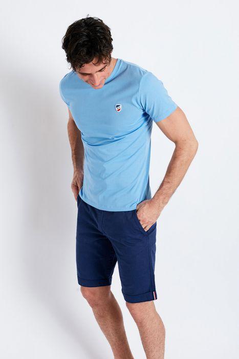 T-shirt manches courtes Bleu Ciel écusson TSMC UNICALA