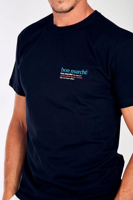 T-shirt marine en coton - Bon Marché - Collaboration Le Bon Marché YANNBON DICTIO