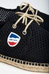 Espadrilles à lacets Riviera Héritage Noir RIVIERA HERITAGE