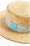 Chapeau Canotier motif parasol Lagon CANOTIER PARASOL CALA