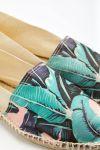 Espadrilles en toile imprimé tropical Ecru et Malabar - Made in France CLASSIQUE TROPIQUES